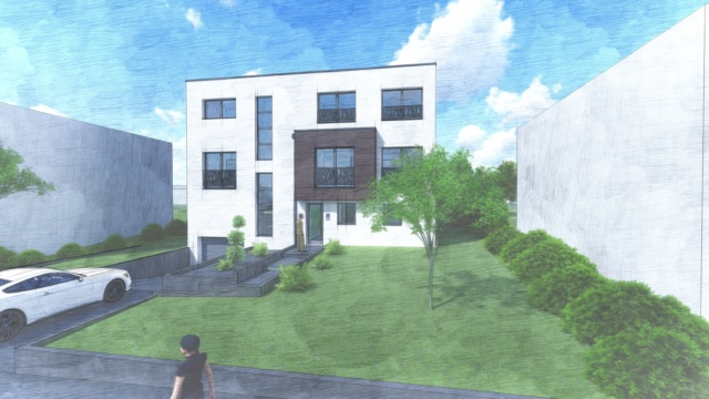 Projet de construction à Bascharage-belle résidence de 4 appartements