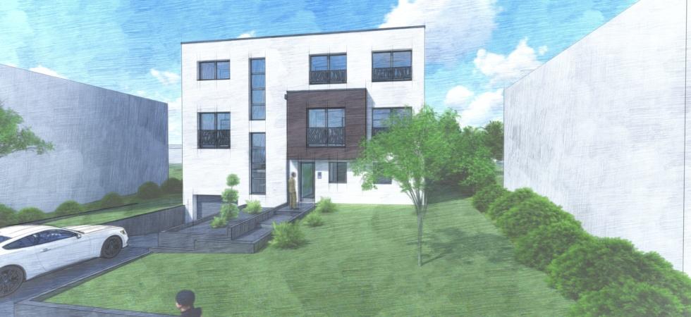 Projet de construction à Bascharage-belle résidence de 4 appartements